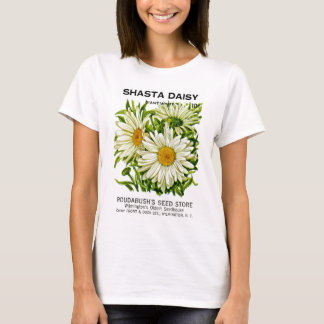 Shasta Daisy Vintage Seed Packet T-Shirt