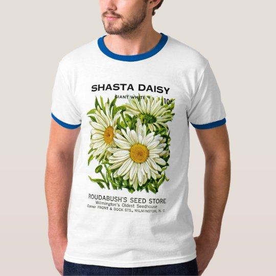 Shasta Daisy Vintage Seed Packet T-Shirt