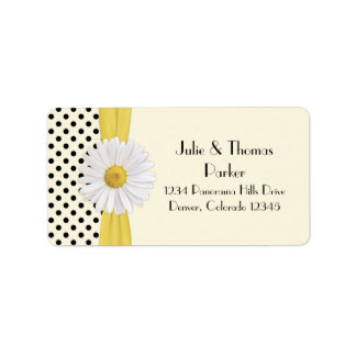 Shasta Daisy Wedding Address Labels