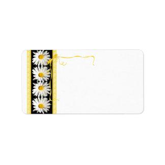 Shasta Daisy Wedding Blank Address Label