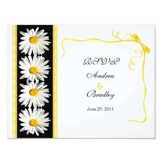 Shasta Daisy Wedding Response Card