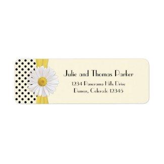 Shasta Daisy Wedding Return Address Label label