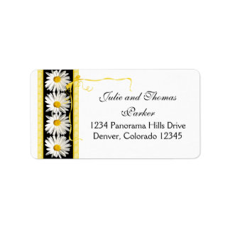 Shasta Daisy Wedding Return Address Label