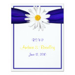 Shasta Daisy with Blue Ribbon Response Card Announcements