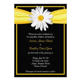 Shasta Daisy with Yellow Ribbon Invitation