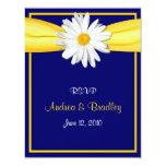 Shasta Daisy with Yellow Ribbon Response Card Personalized Invites