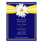Shasta Daisy with Yellow Ribbon Save the Date Card Custom Invites