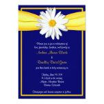 Shasta Daisy with Yellow Ribbon Wedding Invitation