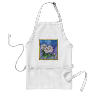 Shasta Dasies Faux Stained Glass Apron