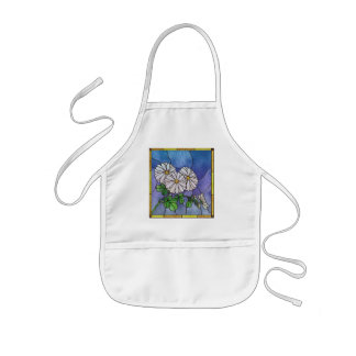 Shasta Dasies Faux Stained Glass Kids Apron