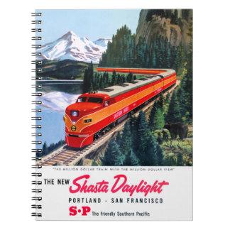 Shasta Daylight Portland San Francisco Poster Notebook