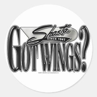 Shasta -- Got Wings? Classic Round Sticker