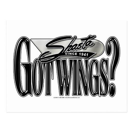 Shasta -- Got Wings? Postcard