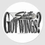 Shasta -- Got Wings? Round Stickers