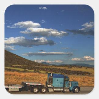 Shasta I-5 Trucking Square Sticker