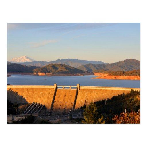 Shasta Lake Dam in California Postcard