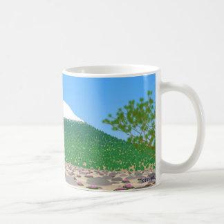 shasta on a clear day coffee mug