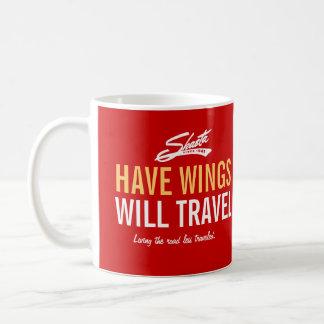 Shasta tiene alas - viajará el personalizable taza básica blanca