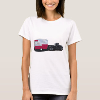 Shasta Travel Trailer and Pick up truck T-Shirt