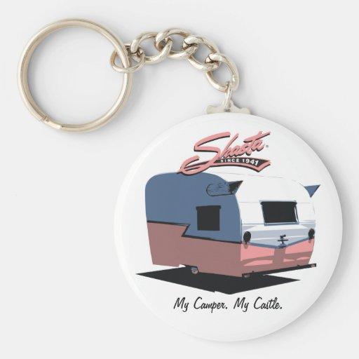 Shasta Vintage Camper - Pink Key Chains