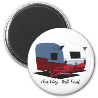 Shasta Vintage Camper - Red 2 Inch Round Magnet