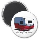 Shasta Vintage Camper - Red Magnet