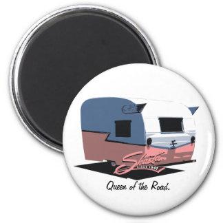 Shasta Vintage Camper RV - Pink 2 Inch Round Magnet