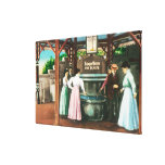 Shasta Water Drinking Fountain Scene Stretched Canvas Print