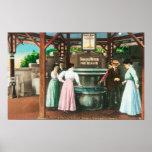 Shasta Water Drinking Fountain Scene Print