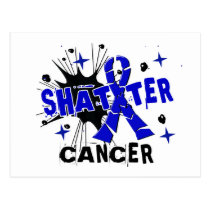 Shatter Anal Cancer Postcard