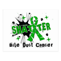 Shatter Bile Duct Cancer Postcard