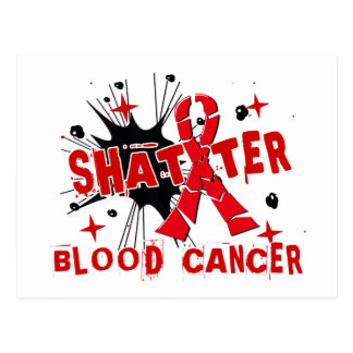 Shatter Blood Cancer Postcard