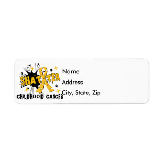 Shatter Childhood Cancer Label