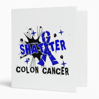 Shatter Colon Cancer Vinyl Binder