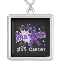 Shatter GIST Cancer Silver Plated Necklace