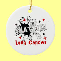 Shatter Lung Cancer Christmas Ornaments