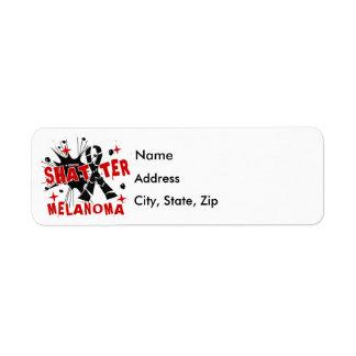 Shatter Melanoma Label