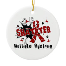 Shatter Multiple Myeloma Ceramic Ornament