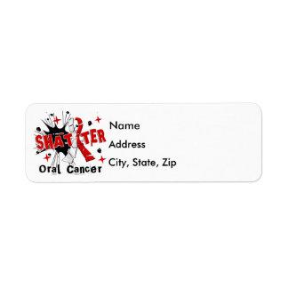 Shatter Oral Cancer Return Address Label