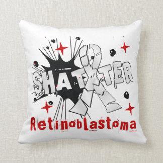 Shatter Retinoblastoma Throw Pillow