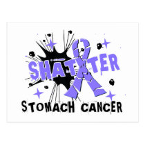 Shatter Stomach Cancer Postcard