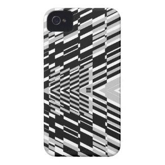 Shatter Stripe Black White iPhone 4 ID Case