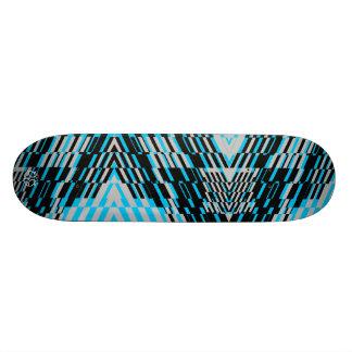 Shatter Stripe Blue Black Skateboard