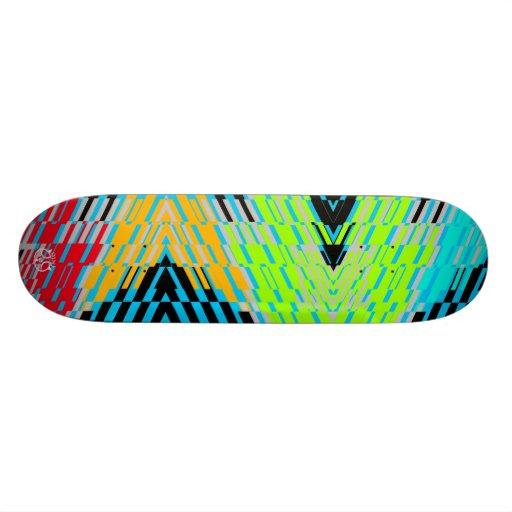 Shatter Stripe Multicolor Skateboard