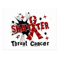 Shatter Throat Cancer Postcard