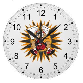 Shattered Basketball Backboard Large Clock