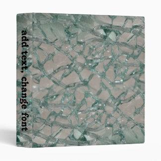 Shattered Glass Background Vinyl Binder