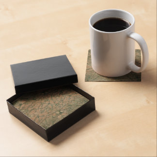 Shattered Glass Background (Faux) Drink Coaster
