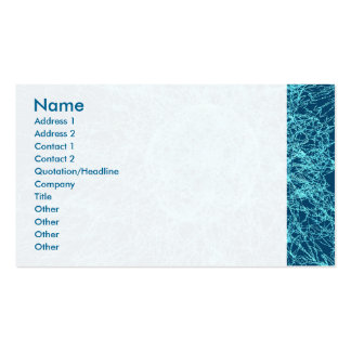 Shattered glass business card