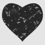 Shattered Glass Heart Stickers